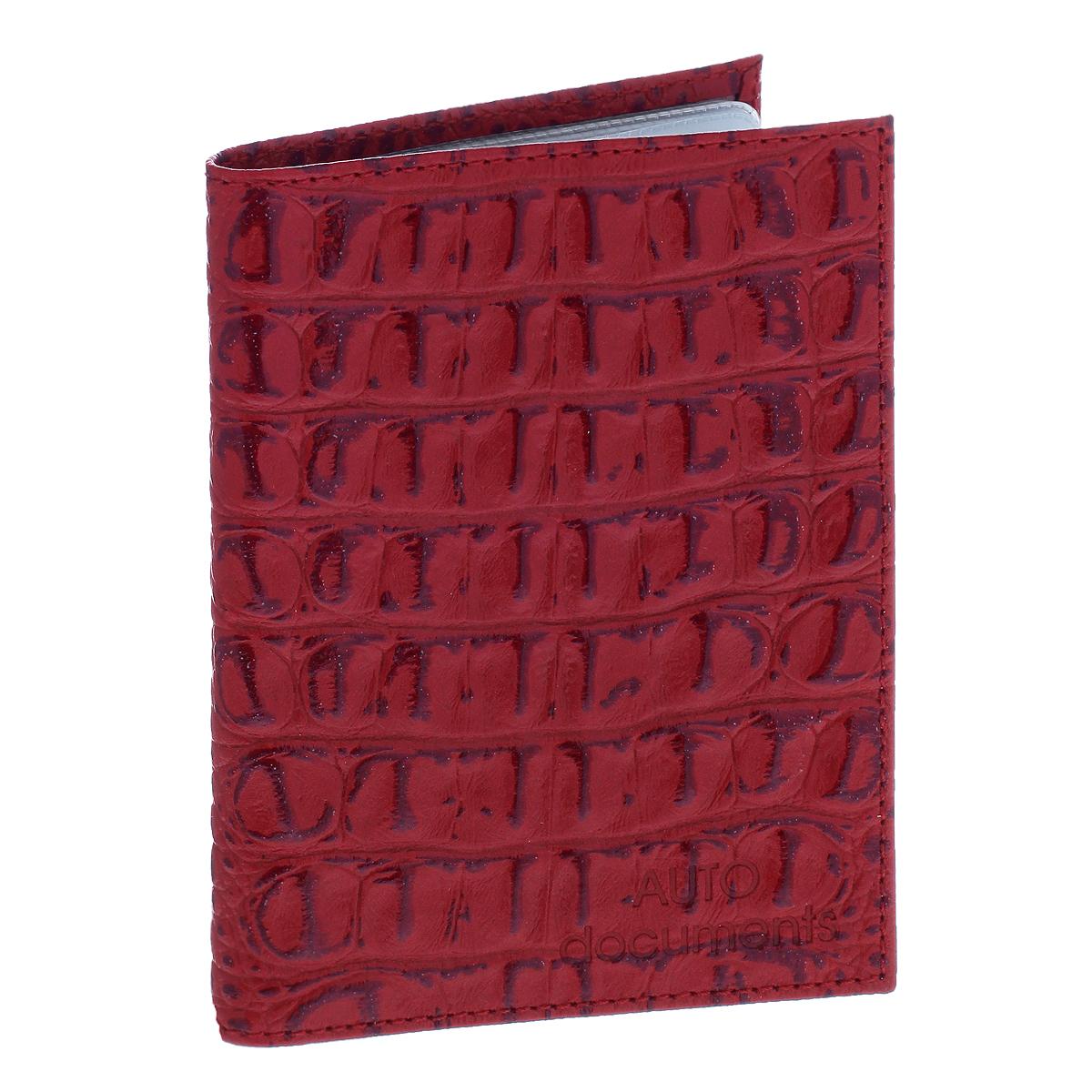 Бумажник водителя Befler, цвет: красный. BV.1.-13BV.1.-13. красныйЭффектный бумажник водителя Befler изготовлен из натуральной кожи и декорирован тиснением под рептилию. Изделие с обеих сторон дополнено тиснеными надписями. Внутри содержится съемный блок из 6 пластиковых файлов, а также 2 прозрачных боковых кармана. Изделие упаковано в фирменную коробку. Такой бумажник не только защитит ваши документы, но и станет стильным аксессуаром, который прекрасно дополнит образ.