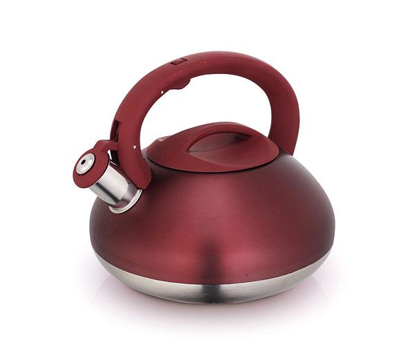 Чайник Laracook, со свистком, цвет: коричневый, 3 лLC-0624Чайник Laracook выполнен из нержавеющей стали высокой прочности с матовой полировкой. Чайник оснащен откидным свистком, который громко оповестит о закипании воды. Удобная эргономичная ручка и крышка выполнены из бакелита. Такой чайник идеально впишется в интерьер любой кухни и станет замечательным подарком к любому случаю. Подходит для всех типов плит, включая индукционные. Можно мыть в посудомоечной машине.