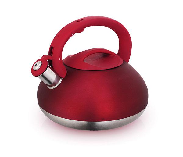 Чайник Laracook, со свистком, цвет: бордовый, 3 лLC-0623Чайник Laracook выполнен из нержавеющей стали высокой прочности с матовой полировкой. Чайник оснащен откидным свистком, который громко оповестит о закипании воды. Удобная эргономичная ручка и крышка выполнены из бакелита. Такой чайник идеально впишется в интерьер любой кухни и станет замечательным подарком к любому случаю. Подходит для всех типов плит, включая индукционные. Можно мыть в посудомоечной машине. Диаметр чайника по верхнему краю: 11 см. Диаметр индукционного диска: 17 см. Высота чайника (с учетом ручки): 21 см.