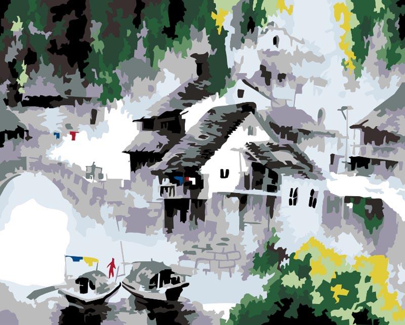 Живопись на цветном холсте Белый город, 40 см х 50 см. 055-CG-C055-CG-CЖивопись на холсте Белый город - это набор для раскрашивания по номерам красками на холсте. Каждая краска имеет свой номер, соответствующий номеру на картинке. Нужно только аккуратно нанести необходимую краску на отмеченный для нее участок. Таким образом, шаг за шагом у вас получится великолепная картина. С помощью такого набора вы можете стать настоящим художником и создателем прекрасных картин. Вы получите истинное удовольствие от погружения в процесс творчества, и созданные своими руками картины украсят интерьер вашего дома или станут прекрасным подарком. Техника раскрашивания на холсте по номерам дает возможность легко рисовать даже сложные сюжеты. Прекрасно развивает художественный вкус, аккуратность и внимание. В набор входят: - профессиональный прогрунтованный холст из 100% хлопка с нанесенным цветным рисунком, натянутый на деревянный подрамник, - специально разработанные нетоксичные, экологичные, безопасные, устойчивые...