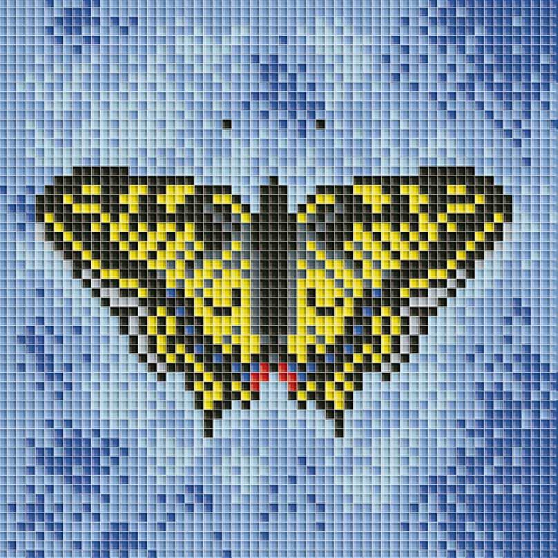 Набор для творчества Мозаика. Бабочка на синем, 15 х 15 см098-ST Бабочка на синемНабор для творчества Мозаика. Бабочка на синем поможет вам создать свой личный шедевр - красивую картину, выполненную в мозаичной технике. Мозаичные картины - это новый вид творчества, который поможет создать прекрасное украшение для вашего дома. В наборе имеется канва с нанесенной схемой, покрытая клеевым слоем. С помощью пинцета камушки размещаются на канву. В результате проявляется рисунок. Для создания картины нужно лишь выложить мозаику по схеме на клеевую основу. Вы получите огромное наслаждение от творчества. В набор входит: - основа картины со схемой, - комплект мозаики, - пинцет, - контейнер для мозаики.