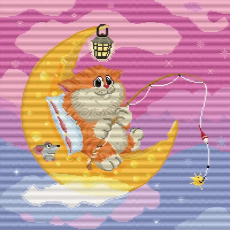 Набор для вышивания крестом Котик на Луне, 29 х 29 см143-14 Котик на ЛунеНабор для вышивания крестом Котик на Луне поможет вам создать свой личный шедевр - красивую картину, вышитую нитками мулине в технике счетный крест. Работа, выполненная своими руками, станет отличным подарком для друзей и близких! Набор содержит: - белая канва (хлопок) без рисунка, - мулине (хлопок) - 37 цветов, - игла - 2 шт, - схема для вышивания, - инструкция на русском языке.