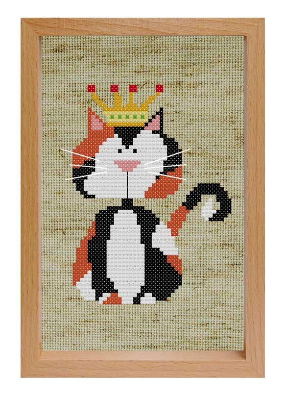 Набор для вышивания крестом Королевский кот, 16 см х 11 см203-EF Королевский котНабор для вышивания крестом Королевский кот поможет вам создать свой личный шедевр - красивую картину, вышитую нитками мулине в технике счетный крест. Работа, выполненная своими руками, станет отличным подарком для друзей и близких! Набор содержит: - бежевая канва (хлопок) без рисунка, - мулине (хлопок), - игла, - схема для вышивания, - деревянная рамка, - инструкция на русском языке.