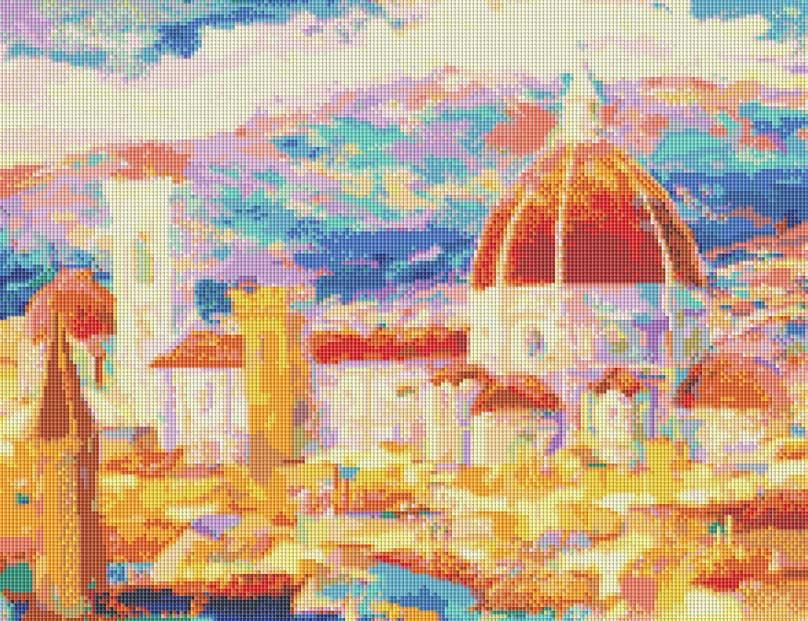 Набор для творчества Мозаика. Дождь над Флоренцией, 55 см х 42 см241-ST Дождь над ФлоренциейНабор для творчества Мозаика. Дождь над Флоренцией поможет вам создать свой личный шедевр - красивую картину, выполненную в мозаичной технике. Мозаичные картины - это новый вид творчества, который поможет создать прекрасное украшение для вашего дома. В наборе имеется канва с нанесенной схемой, покрытая клеевым слоем. С помощью пинцета камушки размещаются на канву. В результате проявляется рисунок. Для создания картины нужно лишь выложить мозаику по схеме на клеевую основу. Вы получите огромное наслаждение от творчества.