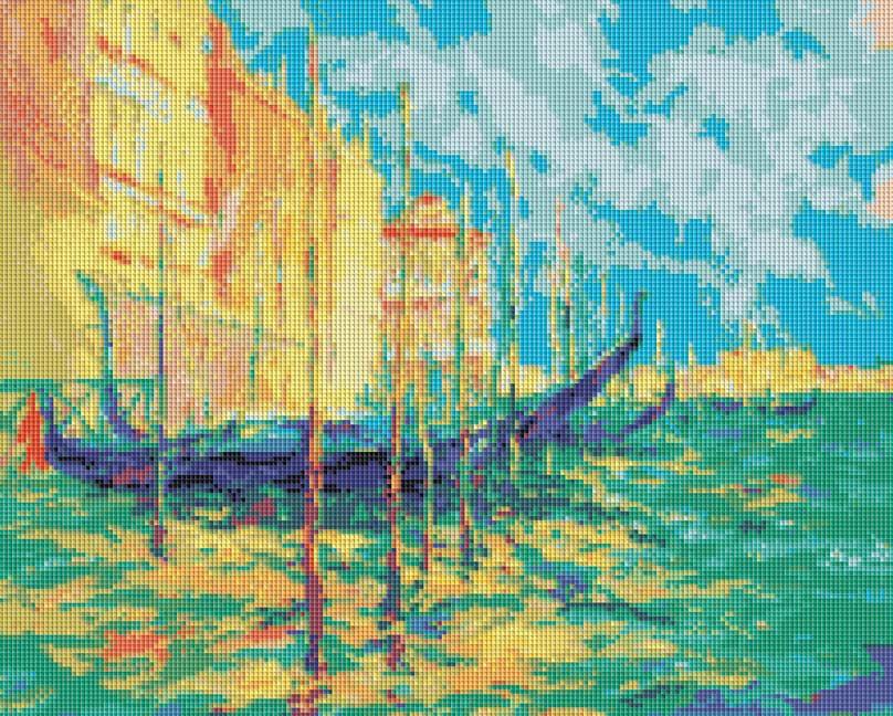 Набор для творчества Мозаика. Стоянка гондол. Венеция, 49 см х 39 см233-STНабор для творчества Мозаика. Стоянка гондол. Венеция поможет вам создать свой личный шедевр - красивую картину, выполненную в мозаичной технике. Мозаичные картины - это новый вид творчества, который поможет создать прекрасное украшение для вашего дома. В наборе имеется канва с нанесенной схемой, покрытая клеевым слоем. С помощью пинцета камушки размещаются на канву. В результате проявляется рисунок. Для создания картины нужно лишь выложить мозаику по схеме на клеевую основу. Вы получите огромное наслаждение от творчества. В набор входит: - основа картины со схемой, - комплект мозаики, - пинцет, - контейнер для мозаики.
