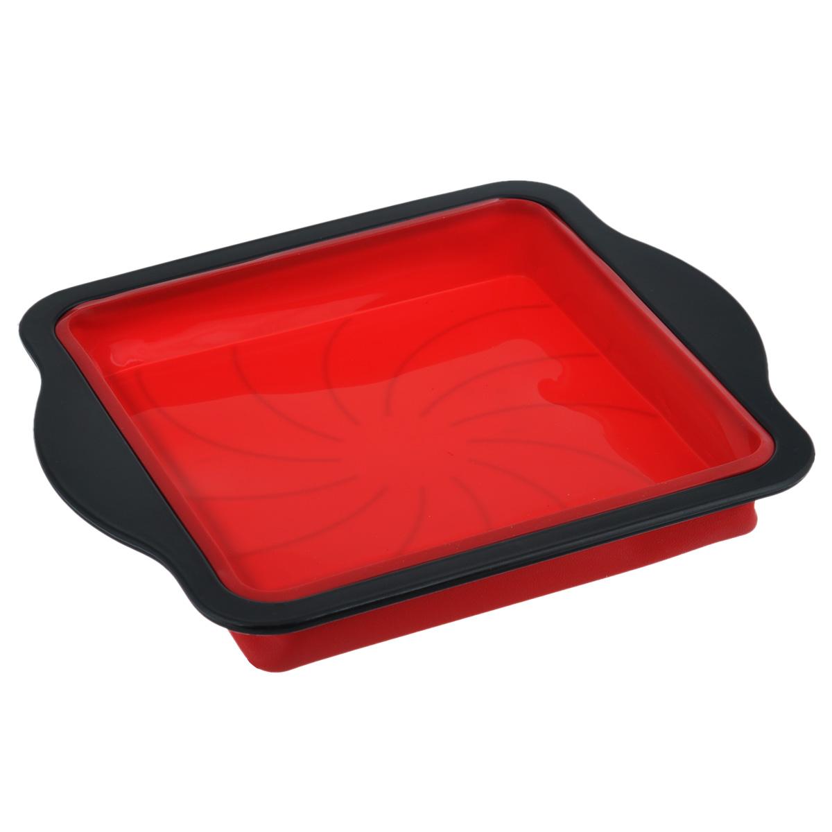 Форма для пирога Mayer & Boch, квадратная, цвет: черный, красный, 32,5 см х 28 см4125Форма для пирога Mayer & Boch изготовлена из высококачественного пищевого силикона. Благодаря пластиковому ободу с удобными ручками изделие легко вынимать из духовки. Форма идеально подходит для приготовления пирогов и других блюд. Выдерживает температуру до +230°C. Форма для запекания Mayer & Boch подходит для приготовления блюд в духовке. Можно мыть в посудомоечной машине.