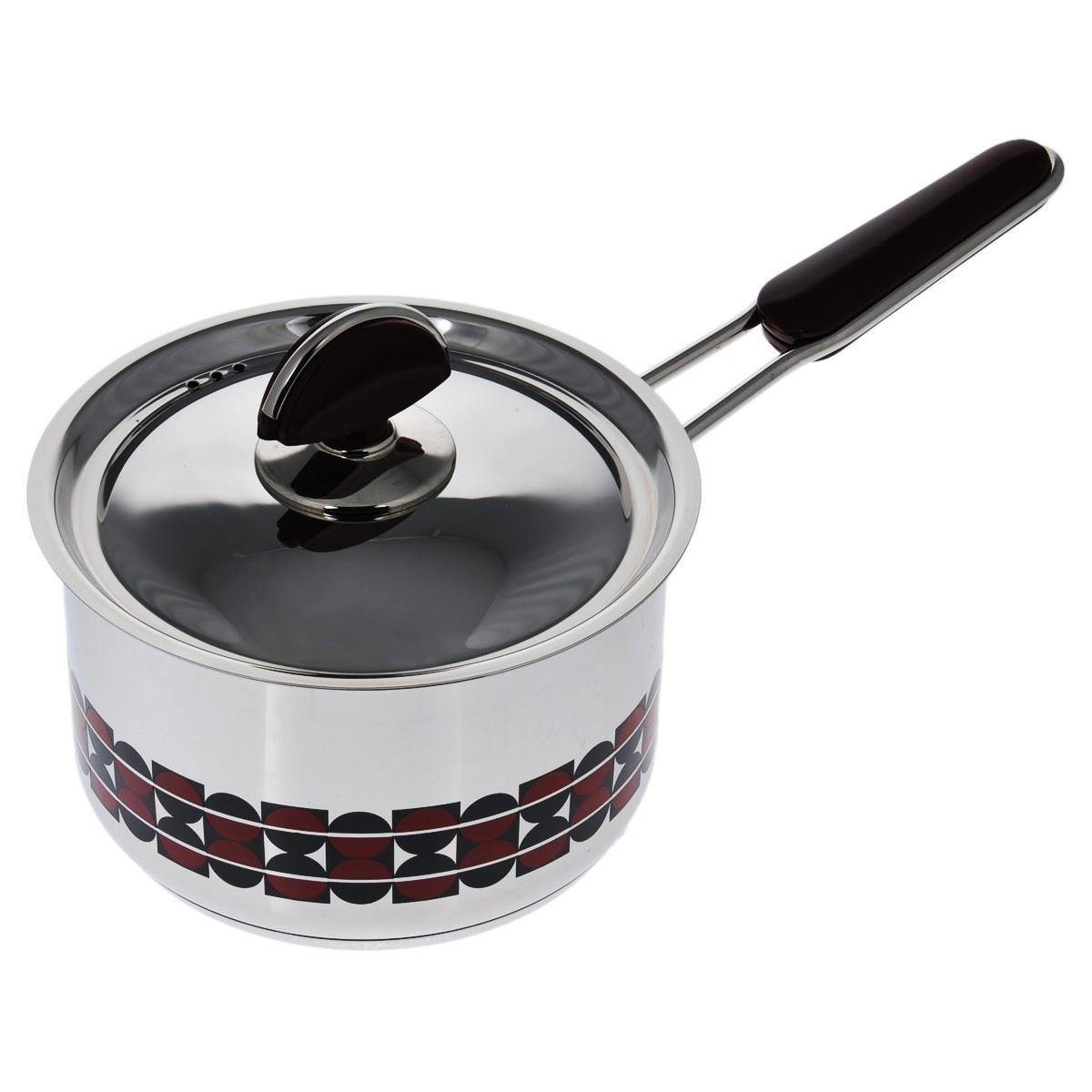 Ковш Kitchen-Art EX Pot с крышкой, 2,1 лZH3001Ковш Kitchen-Art EX Pot выполнен из высококачественной нержавеющей стали Премиум-ЛЮКС с зеркальной полировкой. Внешние стенки оформлены красивым геометричным рисунком в стиле Luxury. Дно изделия с трехслойным напылением, легкое, но очень прочное. Модный европейский дизайн, обтекаемые линии и формы. Для удобного использования ручка из нержавеющей стали оснащена бакелитовой вставкой бордового цвета. Крышка выполнена из нержавеющей стали со специальными отверстиями для выпуска пара. Подходит для всех типов плит, включая индукционные. Можно мыть в посудомоечной машине. Высота стенки: 10 см. Длина ручки: 15 см. Толщина стенки: 2 мм. Толщина дна: 4 мм. Диаметр дна: 14 см.