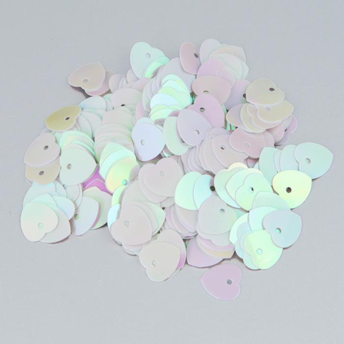Пайетки Астра Сердечки, с перламутром, цвет: светло-розовый (319), 10 мм х 10 мм, 10 г. 7700473_3197700473_319Пайетки Астра Сердечки с перламутром представляют собой блёстки, плоские чешуйки в форме сердца, изготовленные из пластика с отверстием для продевания нитки. Они позволят изыскано украсить любую вещь, идеальны для декора сценических костюмов, создания стилизованной одежды.