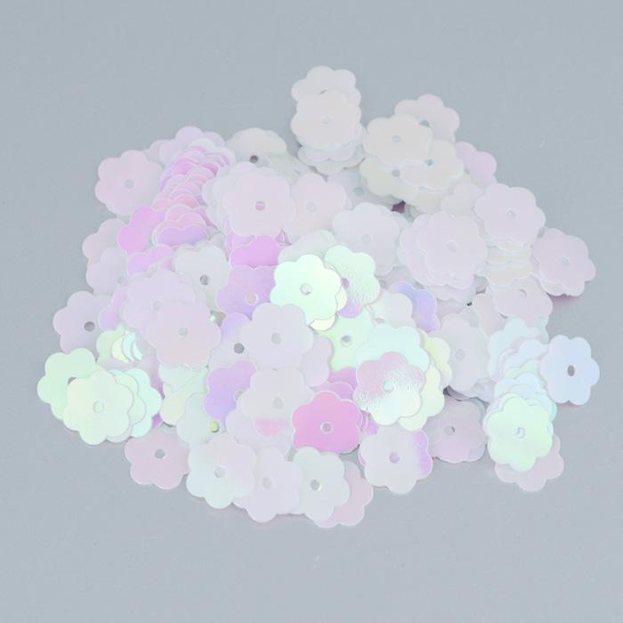 Пайетки Астра Цветочки, с перламутром, цвет: светло-розовый (319), 10 мм, 10 г. 7700474_3197700474_319Пайетки Астра Цветочки с перламутром представляют собой блёстки, плоские чешуйки в форме цветка, изготовленные из пластика с отверстием для продевания нитки. Они позволят изыскано украсить любую вещь, идеальны для декора сценических костюмов, создания стилизованной одежды.