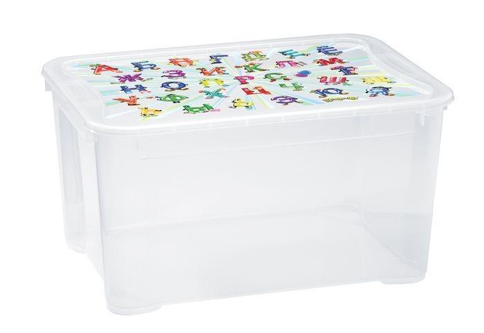Бытпласт Ящик для игрушек 555х390х290 с аппликацией на крышке. С13775