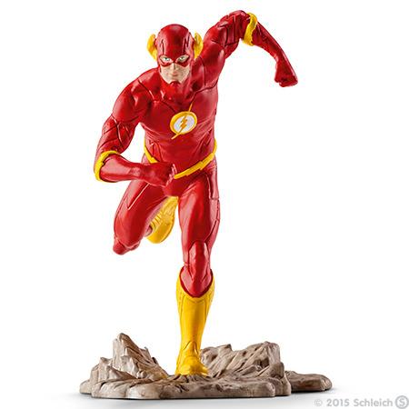 Schleich Фигурка Флеш22508Великолепная фигурка Schleich Justice League: Флеш станет прекрасным подарком для вашего ребенка. Она высоко детализирована, и выполнена из каучукового пластика. Фигурка выполнена в виде супергероя Флеша и имеет подставку в виде камня. Такая фигурка непременно понравится вашему ребенку, а также привлечет внимание взрослых коллекционеров, и станет замечательным украшением любой коллекции. Восхитительная фигурка сделает игры в супергероев еще увлекательнее и интереснее! Флеш обладает способностью развивать скорость, превышающую скорость звука. Флеш способен разрушить здание до основания в считанные секунды. Приложив руки к земле, он вызывает небольшое землетрясение. Также способен совершать огромные прыжки после сильного разгона. Все свои сверхспособности он смело использует для борьбы со злом.