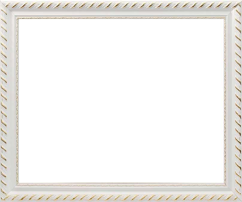 Багетная рама Constance, цвет: белый, золотистый, 40 х 50 см2645-BB Constance (белый)Багетная рама Constance изготовлена из дерева. Багетные рамы предназначены для оформления картин, вышивок и фотографий. Оформленное изделие всегда становится более выразительным и гармоничным. Подбор багета для картин очень важен - от этого зависит, какое значение будет иметь выполненная работа в вашем интерьере. Если вы используете раму для оформления живописи на холсте, следует учесть, что толщина подрамника больше толщины рамы и сзади будет выступать, рекомендуется дополнительно зафиксировать картину клеем, лист-заглушку в этом случае не вставляют. В комплекте - крепежные элементы, с помощью которых изделие можно подвесить на стену и задник. Размер картины: 40 см х 50 см. Размер рамы: 48 см х 57,5 см х 2 см.