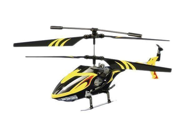 Auldey Вертолет на радиоуправлении Sky Rover цвет желтый черный1102744 (YW858110)Auldey G-Viator GV-001 YW858110 привлечет внимание не только ребенка, но и взрослого, и станет отличным подарком любителю воздушной техники. Вертолет оснащен 3-канальным радиоуправлением, светодиодными огнями и встроенным гироскопом. Модель обладает высокой стабильностью полета, что позволяет полностью контролировать его процесс, управляя без суеты и страха сломать игрушку. Каждый запуск модели будет максимально комфортным и принесет вам яркие впечатления. Вертолет выполнен из металла с элементами пластика Полет - захватывающее чувство... управлять им еще лучше! Летающие модели вертолетов на инфракрасном управлении обрадуют любого мальчика, а представленная игрушка особенно, ведь она оснащена гироскопом, имеет уникальную систему управления, благодаря чему может удерживать равновесие даже во время сложных маневров.