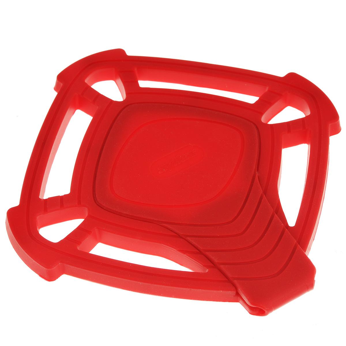 Подставка под горячее Zyliss, цвет: красный, 14,5 см х 14,5 смE990018Подставка под горячее Zyliss изготовлена из качественного и очень прочного силикона, позволяет выдерживать температуру до 240°С. Термостойкая подставка предназначена для кастрюль, горячих сковородок и тарелок, позволит вам сохранить покрытие ваших столов. Материал не скользит по поверхности стола. Подставка обладает уникальным свойством: средняя секция раскладывается, превращаясь в удобную подставку для половника. Подставка безопасна при контакте с тефлоновой поверхностью. Подставка под горячее Zyliss незаменимый и очень полезный аксессуар на каждой кухне. Можно мыть в посудомоечной машине. Размер подставки: 14,5 см х 14,5 см. Длина подставки для половника: 14,5 см.