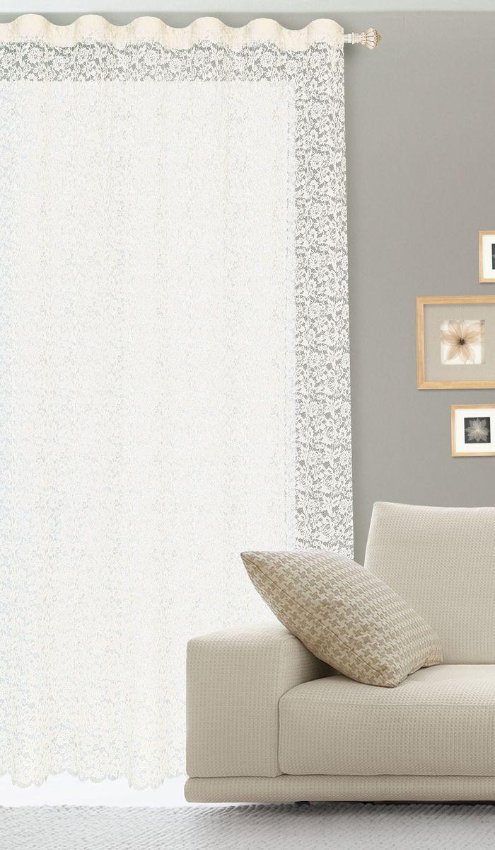 Штора готовая для гостиной Garden, на ленте, цвет: белый, размер 300* 260 см. С536070V4С536070V4Гипюровая кружевная штора для гостиной Garden выполнена из сетчатой ткани (100% полиэстера) с изящным цветочным принтом. Необычный дизайн, тонкое плетение кружева и нежная цветовая гамма привлекут к себе внимание и органично впишутся в интерьер комнаты. Штора крепится на карниз при помощи ленты, которая поможет красиво и равномерно задрапировать верх. Штора Garden великолепно украсит любое окно. Стирка при температуре 30°С.
