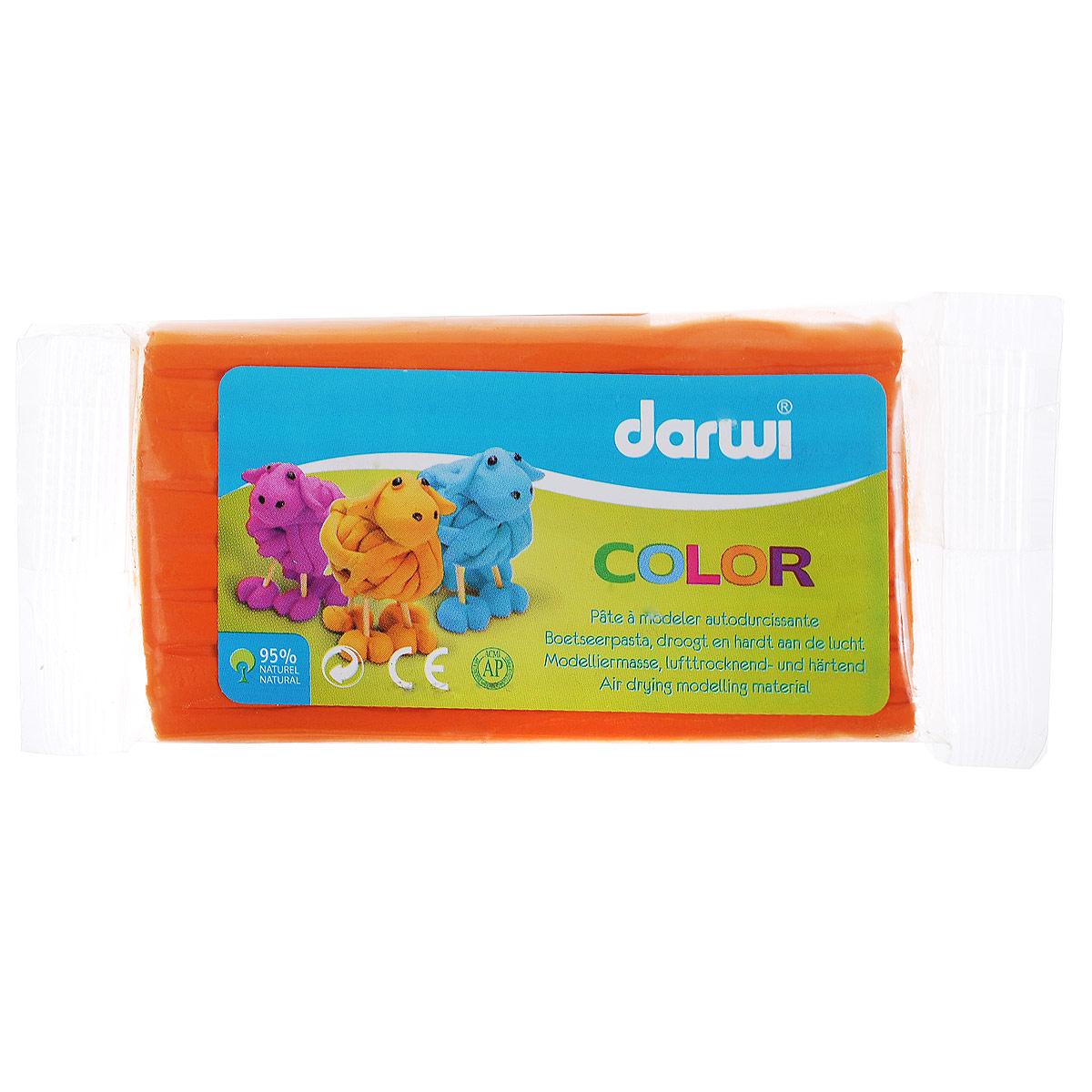 Масса для лепки Darwi Color, цвет: оранжевый (725), 100 г692533_752Масса для лепки Darwi Color - это однородная, самозатвердевающая полимерная глина, предназначенная для лепки. Уже готова к использованию. Масса прекрасно подойдет для детского творчества. Неоспоримое преимущество в том, что ее состав полностью из натуральных продуктов, поэтому масса для лепки гипоаллергенна. Немного пачкает руки. После полного высыхания (минимум 24 часа) масса становится очень твердой и дает небольшую усадку. При высыхании не трескается. После отверждения можно покрывать лаком, красками. Для получения нужных оттенков можно добавлять в массу масляную краску. Масса легко режется ножницами или ножом. Не рекомендуется давать детям до 3-х лет. Транспортировка и хранение только при положительной температуре.