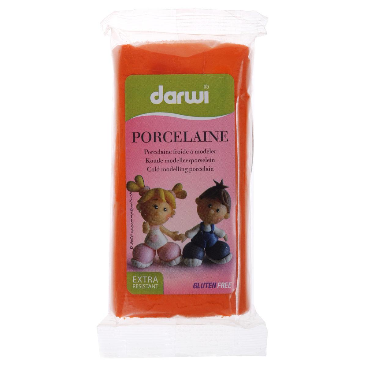 Масса для лепки Darwi Porcelaine, цвет: оранжевый (752), 150 г357002_752Масса Darwi Porcelaine - это самозатвердевающая полимерная глина, предназначенная для лепки. Уже готова к использованию. После полного высыхания (от нескольких часов до нескольких дней в зависимости от размера работы) масса становится очень твердой и дает небольшую усадку. Влагоустойчива при высыхании. После отверждения можно покрывать лаком, красками. Не рекомендуется давать детям до 3-х лет. Транспортировка и хранение массы возможно при температуре 5-25°С.