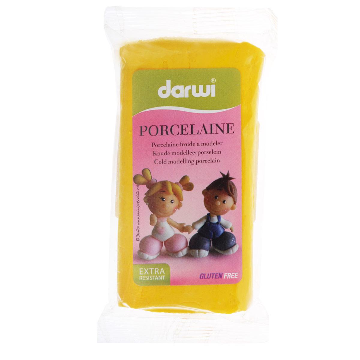 Масса для лепки Darwi Porcelaine, цвет: желтый (700), 150 г357002_700Масса Darwi Porcelaine - это самозатвердевающая полимерная глина, предназначенная для лепки. Уже готова к использованию. После полного высыхания (от нескольких часов до нескольких дней в зависимости от размера работы) масса становится очень твердой и дает небольшую усадку. Влагоустойчива при высыхании. После отверждения можно покрывать лаком, красками. Не рекомендуется давать детям до 3-х лет. Транспортировка и хранение массы возможно при температуре 5-25°С.