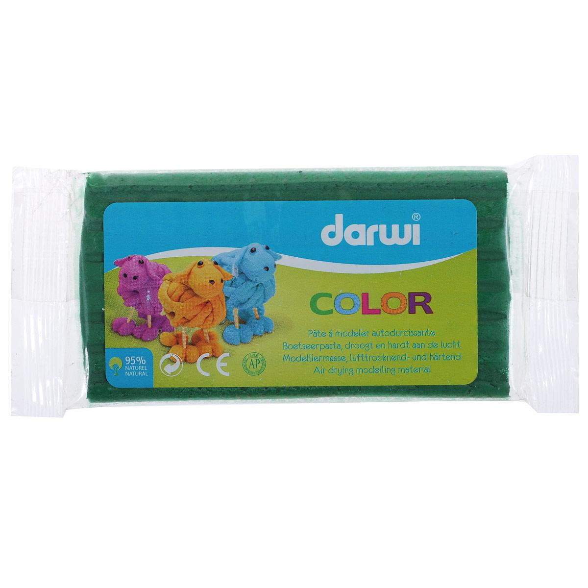 Масса для лепки Darwi Color, цвет: зеленый (600), 100 г692533_600Масса для лепки Darwi Color - это однородная, самозатвердевающая полимерная глина, предназначенная для лепки. Уже готова к использованию. Масса прекрасно подойдет для детского творчества. Неоспоримое преимущество в том, что ее состав полностью из натуральных продуктов, поэтому масса для лепки гипоаллергенна. Немного пачкает руки. После полного высыхания (минимум 24 часа) масса становится очень твердой и дает небольшую усадку. При высыхании не трескается. После отверждения можно покрывать лаком, красками. Для получения нужных оттенков можно добавлять в массу масляную краску. Масса легко режется ножницами или ножом. Не рекомендуется давать детям до 3-х лет. Транспортировка и хранение только при положительной температуре.