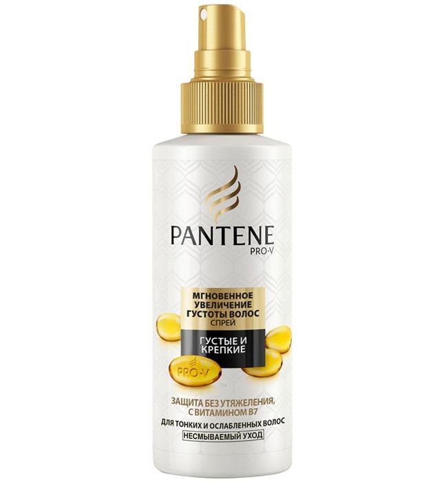 Pantene Pro-V Спрей Густые и крепкие. Мгновенное увеличение густоты волос, для тонких и ослабленных волос, 150 млPT-81439729Провитаминная формула спрея обогащена витамином В7. Спрей мгновенно увеличивает густоту волос и делает их сильными против повреждений при укладке. Создает головокружительный объем у корней на весь день; Возвращает здоровый вид и силу волосам; Придает блеск и укрепляет волосы от корней до кончиков по всей длине. Защита без утяжеления, с витамином В7! Товар сертифицирован.