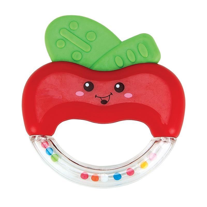 Погремушка-прорезыватель Happy Baby Яблочко, цвет: красный
