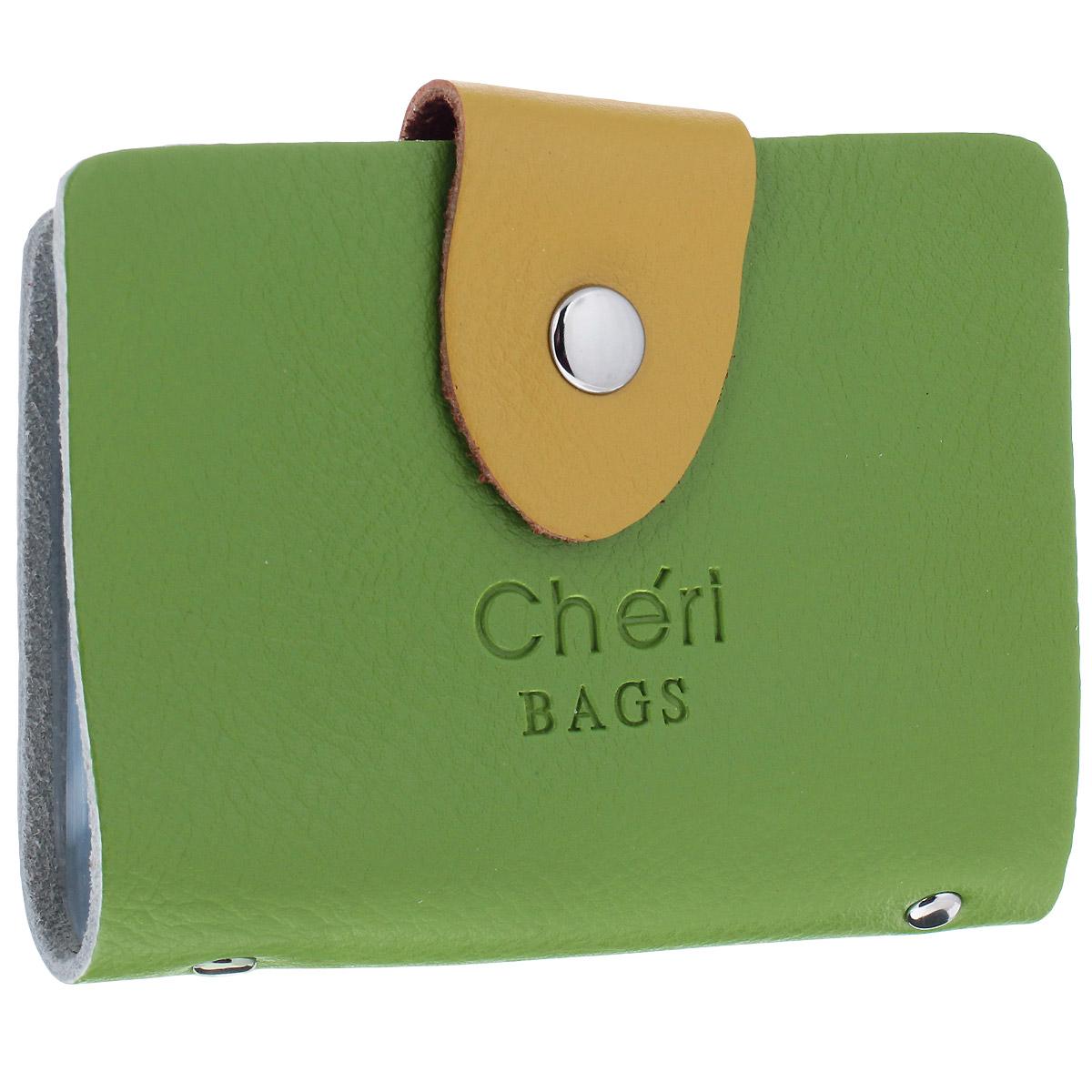 Визитница Cheribags, цвет: зеленый, желтый. V-0498-14