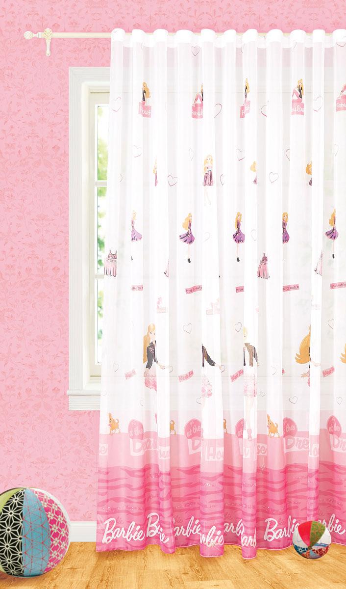 Штора готовая Garden Barbie, на ленте, цвет: белый, розовый, размер 300*260 см. С9165-W191V2С9165-W191V2Изящная тюлевая штора Garden Barbie выполнена из вуали (полиэстера) с печатным рисунком. Полупрозрачная ткань, приятный цвет привлекут к себе внимание и органично впишутся в интерьер помещения. Такая штора идеально подходит для солнечных комнат. Мягко рассеивая прямые лучи, она хорошо пропускает дневной свет и защищает от посторонних глаз. Отличное решение для многослойного оформления окон. Эта штора будет долгое время радовать вас и вашу семью! Штора крепится на карниз при помощи ленты, которая поможет красиво и равномерно задрапировать верх.