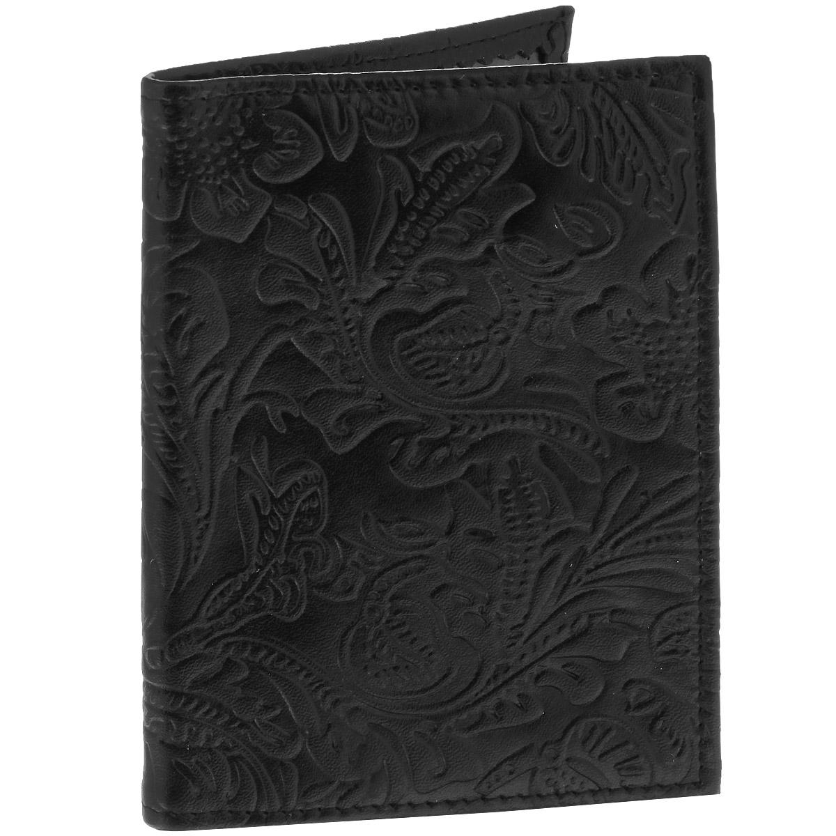 Обложка для паспорта Cheribags Узор, цвет: черный. OP-10OP-10 узорЭлегантная обложка для паспорта Cheribags изготовлена из натуральной высококачественной кожи и оформлена тисненым растительным узором. Внутри - два прозрачных боковых кармана из пластика, которые прочно зафиксируют ваш паспорт. Модная обложка для паспорта не только поможет сохранить внешний вид вашего документа и защитить его от повреждений, но и станет стильным аксессуаром, который прекрасно дополнит ваш образ.