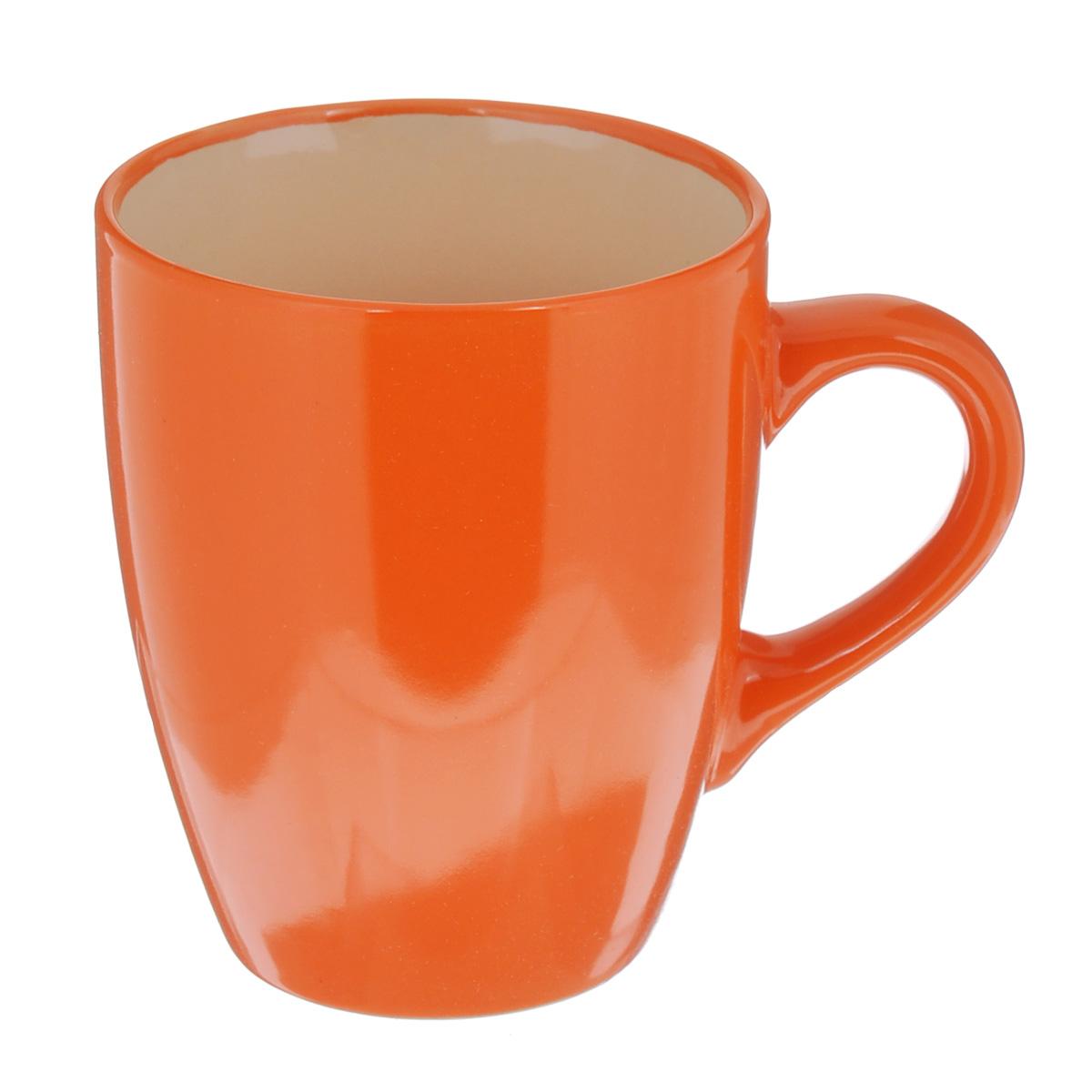 Кружка Shenzhen Xin Tianli, цвет: оранжевый, 370 млTLSD4-8Кружка Shenzhen Xin Tianli выполнена из высококачественной керамики и имеет спокойный классический дизайн. Это изделие экологически безопасно. Кружка Shenzhen Xin Tianli станет замечательным сувениром к любому случаю.
