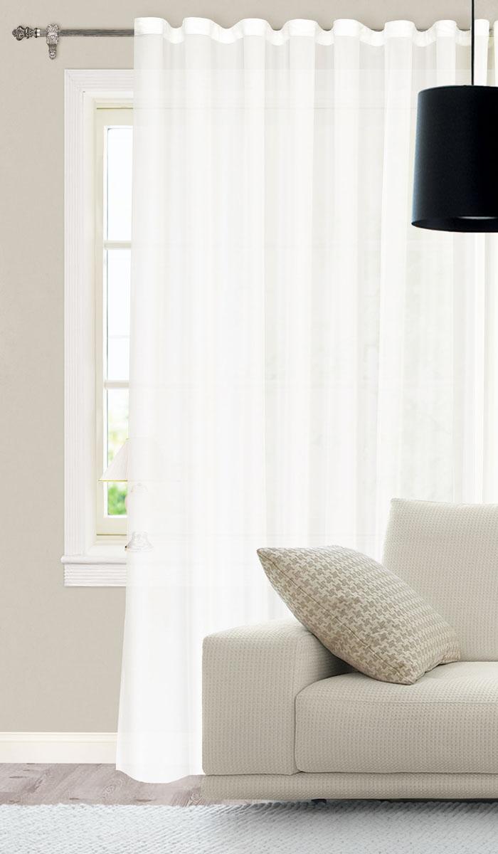 Штора для гостиной Garden, на ленте, цвет: молочный, размер 300*260 см. С W394 V71002С W394 V71002Готовая тюлевая штора для гостиной Garden выполнена из батиста (100% полиэстер) молочного цвета. Полупрозрачность материала, вуалевая текстура и нежная цветовая гамма привлекут к себе внимание и органично впишутся в интерьер комнаты. Штора крепится на карниз при помощи ленты, которая поможет красиво и равномерно задрапировать верх. Штора Garden великолепно украсит любое окно. Стирка при температуре 30°С.