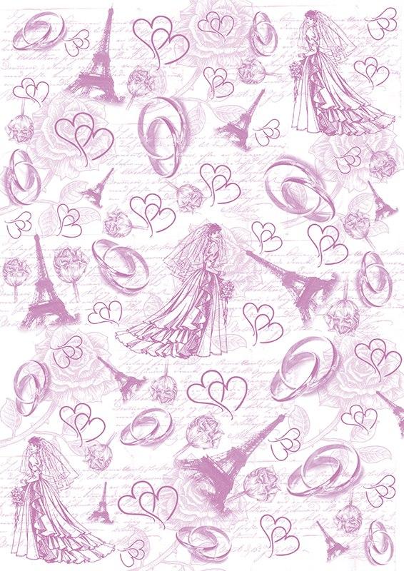 Пленка-оверлей Кустарь Невеста, кольца, Эйфелева башня, формат А4AM403044Пленка Кустарь Невеста, кольца, Эйфелева башня используется для оформления открыток ручной работы, альбомов, блокнотов и т.п. Для крепления используются разные способы - декоративные степлеры, люверсы, машинная строчка, можно привязать ленточкой (сделав надрез или отверстие), можно приклеить на клей (двухсторонний скотч, и т.п.), и задекорировать это место другими элементами украшений (цветочками, ленточками, пуговками, аппликациями). На пленке можно писать перманентной ручкой или маркером.