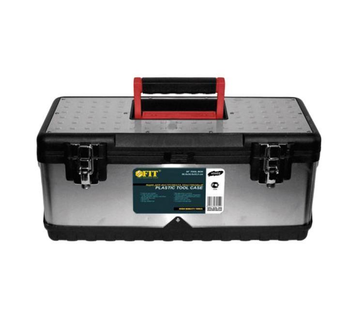 Ящик для инструментов FIT, облицовка из нержавеющей стали, 50,5 х 24,5 х 22,5 см