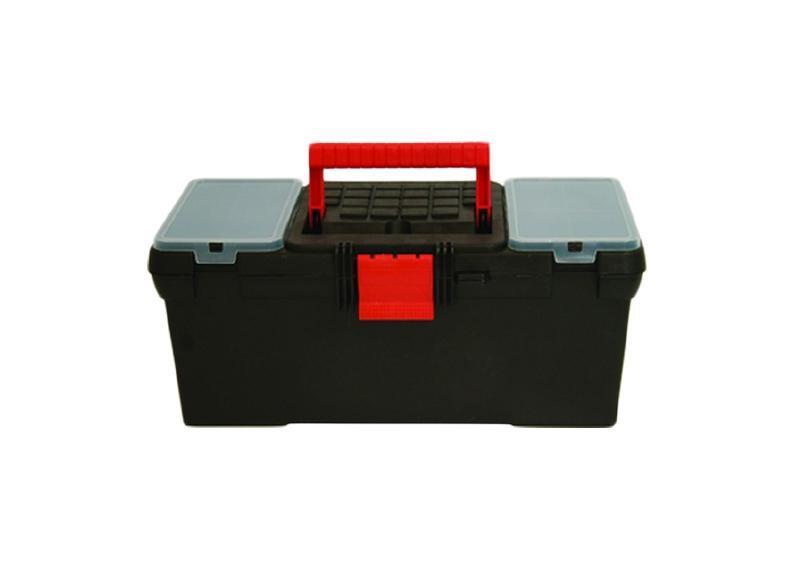"""Ящик для инструмента пластиковый FIT 16"""", цвет: черный,красный 39 см х 20 см х 17 см"""