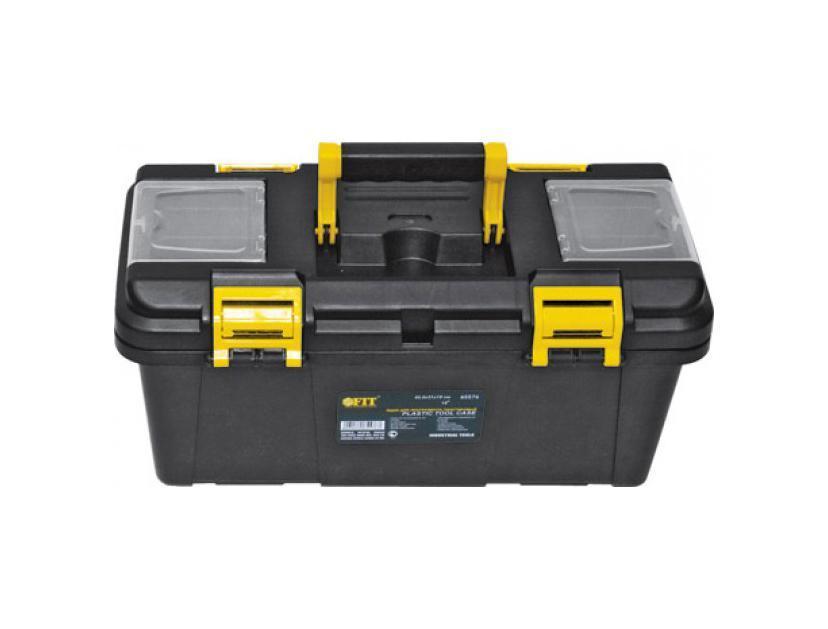 Ящик для инструментов пластиковый FIT, 40,5 х 21 х 19 см65576Ящик FIT 65576 является практичным и компактным приспособлением для хранения различного инструмента и мелкого крепежа. Данная модель достаточно компактна. Также, ящик FIT 65576 оснащен удобным подвижным лотком и ручкой для переноски.