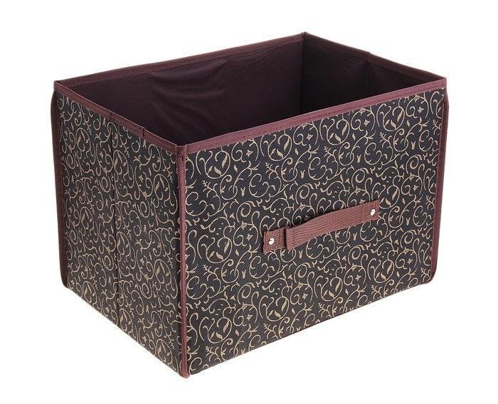 контейнер для хранения(жесткий корпус) 37*27*27см,кофейный 709722709722Декоративный контейнер - отличный способ для хранение вещей! Благодаря универсальности изделия, в контейнере можно хранить самые разнообразные вещи: бижутерию, лекарства, швейные принадлежности.Такой контейнер поможет держать вещи в порядке. Декоративный контейнер даст Вам возможность сохранить все в одном месте, а также защитить вещи от пыли, грязи и влаги.