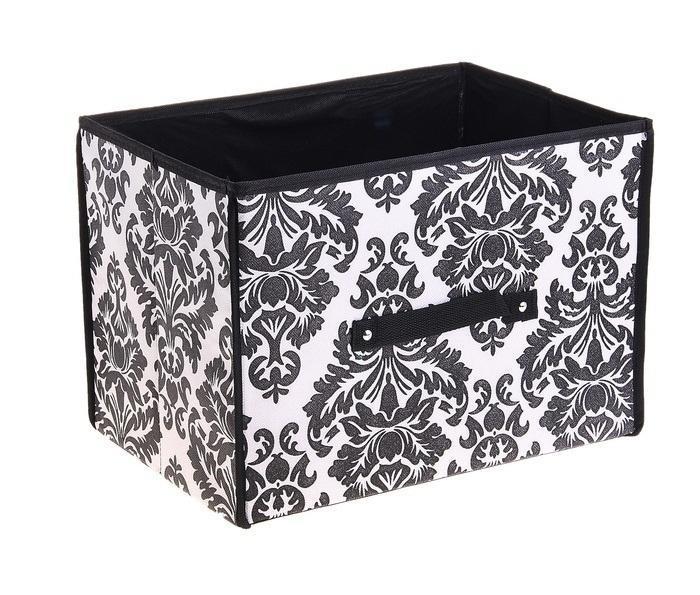 контейнер для хранения(жесткий корпус) бело-чёрный 37*27*27см 709721709721Декоративный контейнер - отличный способ для хранение вещей! Благодаря универсальности изделия, в контейнере можно хранить самые разнообразные вещи: бижутерию, лекарства, швейные принадлежности.Такой контейнер поможет держать вещи в порядке. Декоративный контейнер даст Вам возможность сохранить все в одном месте, а также защитить вещи от пыли, грязи и влаги.