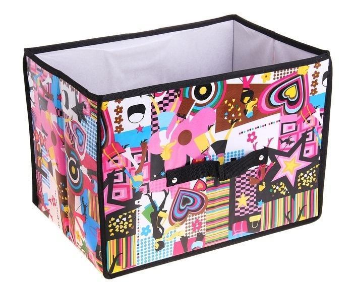 контейнер для хранения(жёсткий корпус) Модница 37*27*27см 709726709726Декоративный контейнер - отличный способ для хранение вещей! Благодаря универсальности изделия, в контейнере можно хранить самые разнообразные вещи: бижутерию, лекарства, швейные принадлежности.Такой контейнер поможет держать вещи в порядке. Декоративный контейнер даст Вам возможность сохранить все в одном месте, а также защитить вещи от пыли, грязи и влаги.