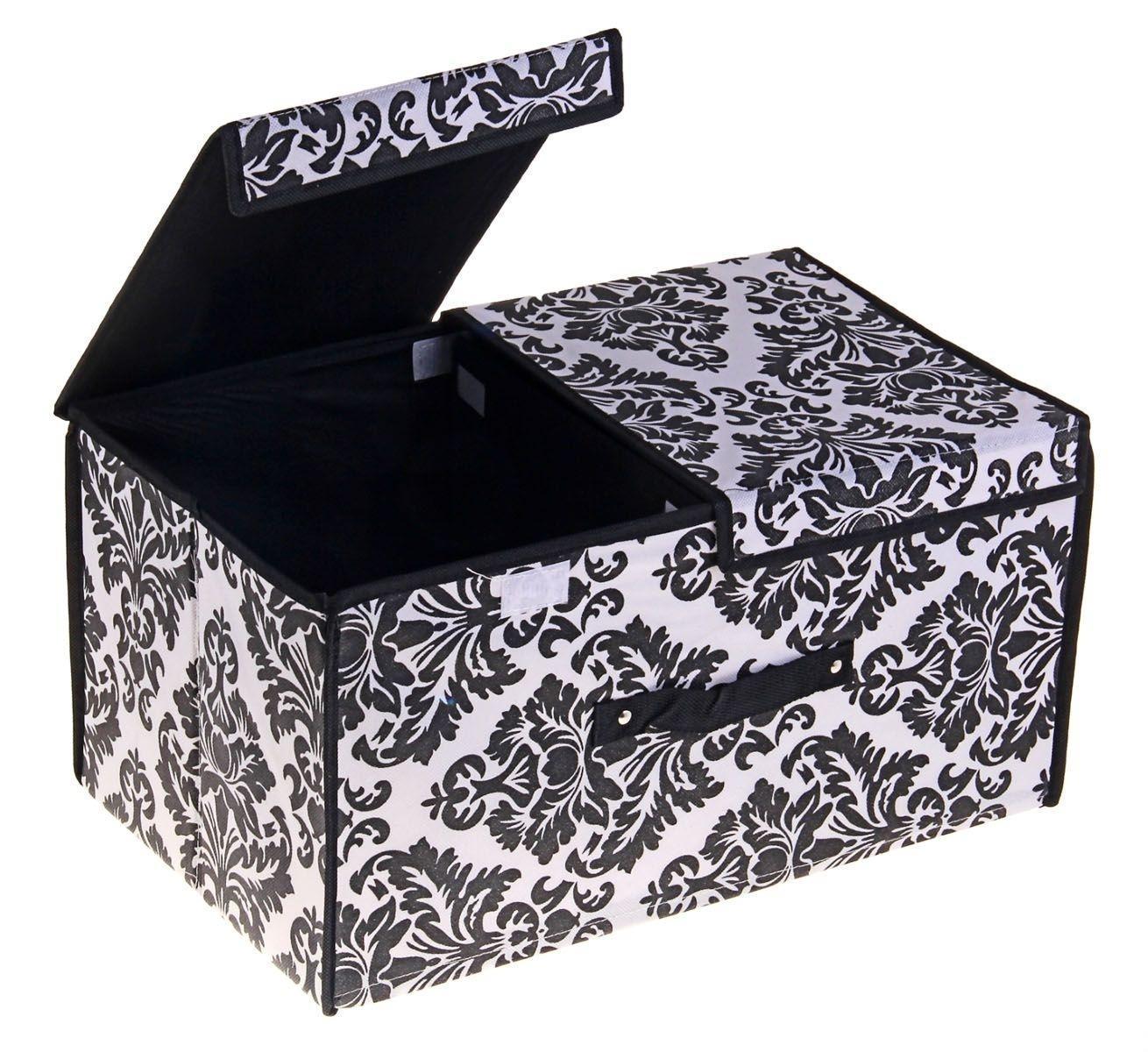 контейнер для хранения (жесткий) 50*30*25см 709728709728Декоративный контейнер - отличный способ для хранение вещей! Благодаря универсальности изделия, в контейнере можно хранить самые разнообразные вещи: бижутерию, лекарства, швейные принадлежности.Такой контейнер поможет держать вещи в порядке. Декоративный контейнер даст Вам возможность сохранить все в одном месте, а также защитить вещи от пыли, грязи и влаги.