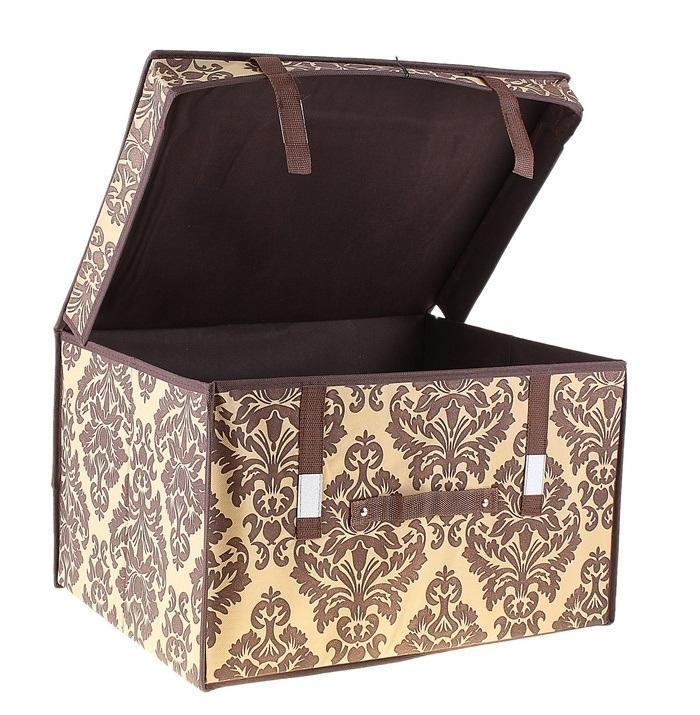 контейнер для хранения(жёсткий) 50*40*30см,коричневый 709744709744Декоративный контейнер - отличный способ для хранение вещей! Благодаря универсальности изделия, в контейнере можно хранить самые разнообразные вещи: бижутерию, лекарства, швейные принадлежности.Такой контейнер поможет держать вещи в порядке. Декоративный контейнер даст Вам возможность сохранить все в одном месте, а также защитить вещи от пыли, грязи и влаги. Материал: Флизелин,картон