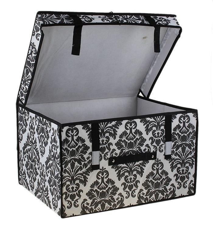 контейнер для хранения(жёсткий) 50*40*30см,бело-чёрный 709745709745Декоративный контейнер - отличный способ для хранение вещей! Благодаря универсальности изделия, в контейнере можно хранить самые разнообразные вещи: бижутерию, лекарства, швейные принадлежности.Такой контейнер поможет держать вещи в порядке. Декоративный контейнер даст Вам возможность сохранить все в одном месте, а также защитить вещи от пыли, грязи и влаги. Материал: Флизелин,картон