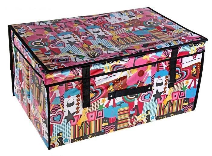 контейнер для хранения(жёсткий) Модница 60*40*30см 709755709755Декоративный контейнер - отличный способ для хранение вещей! Благодаря универсальности изделия, в контейнере можно хранить самые разнообразные вещи: бижутерию, лекарства, швейные принадлежности.Такой контейнер поможет держать вещи в порядке. Декоративный контейнер даст Вам возможность сохранить все в одном месте, а также защитить вещи от пыли, грязи и влаги. Материал: Клеёнка на флизелине,картон