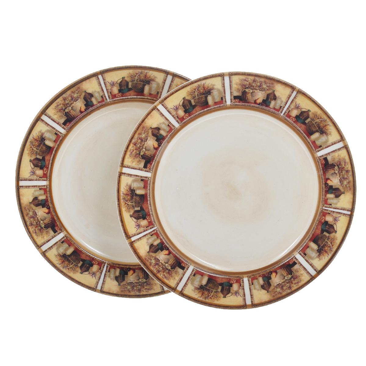 Набор десертных тарелок LCS Натюрморт, диаметр 20 см, 2 штLCS353PFV-ALНабор LCS Натюрморт состоит из двух десертных тарелок, выполненных из высококачественной глазурованной керамики. Изделия декорированы изображением посуды и горшков с цветами. Такие тарелки прекрасно оформят стол и порадуют вас лаконичным и ярким дизайном. Тарелки можно мыть в посудомоечной машине с применением жидких моющих средств.
