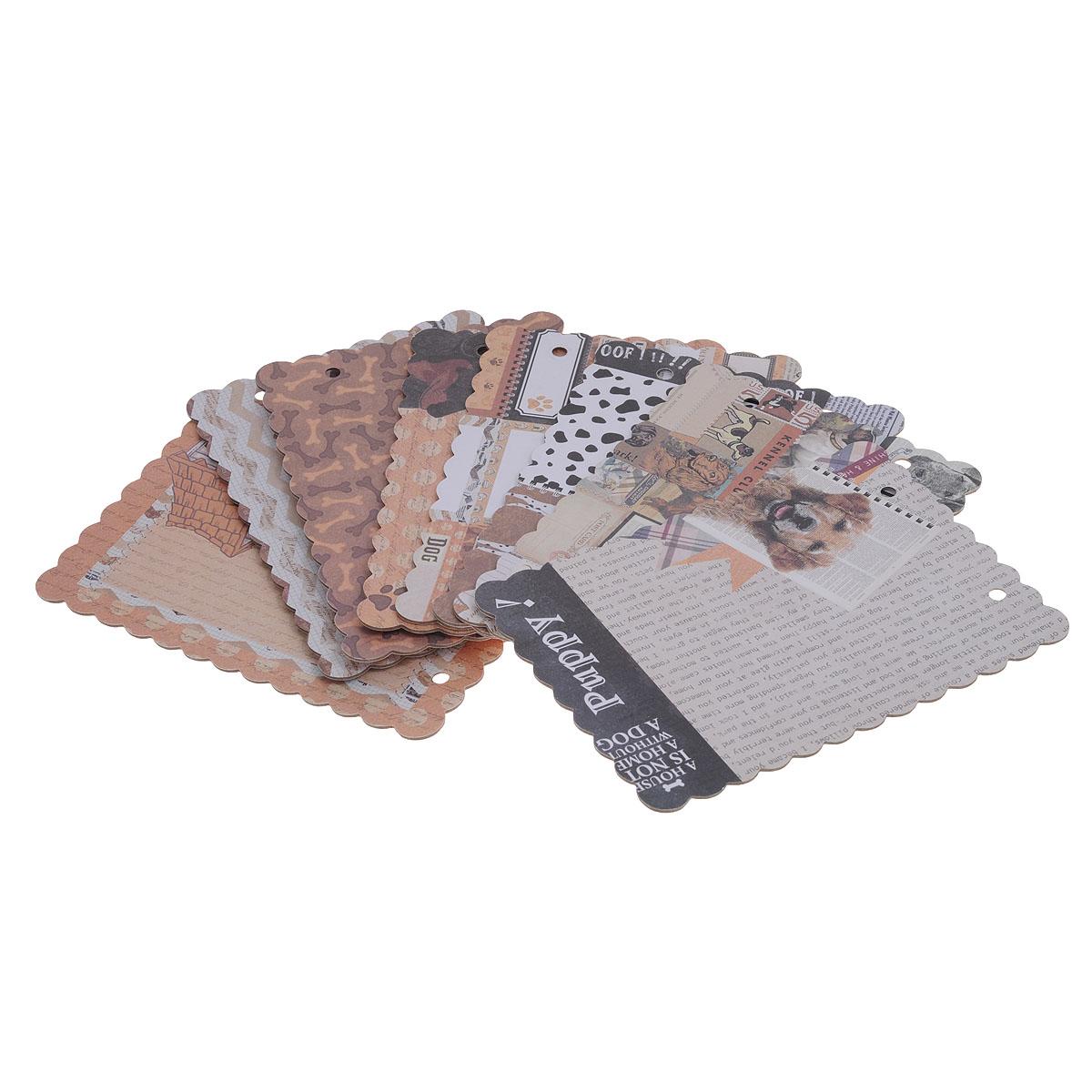 Набор для создания мини-альбома Сахарная косточка, 12,7 х 17,8 см485406Набор для создания мини-альбома Сахарная косточка позволит создать красивый альбом ручной работы. Набор включает 8 листов из плотной бумаги с разным дизайном и 2 кольца для альбома. Бумага не содержит лигнин и хлор.