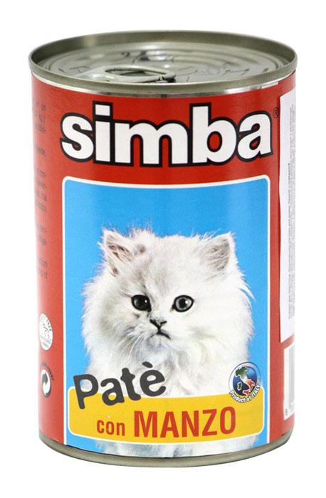 Консервы для кошек Monge Simba, паштет с говядиной, 400 г70009737Консервы для кошек Monge Simba - это полноценное питание для кошек. Паштет с говядиной. Ежедневная норма для кошки среднего размера (3-4 кг) - 400 г. Состав: мясо и мясные субпродукты 60% (в том числе говядина 8%), минеральные вещества, витамины, масло семян подсолнечника, технологические добавки - загустители и желирующие вещества. Анализ компонентов: белок 8,5%, жир 5,5%, сырая клетчатка 0,3%, сырая зола 2,5%, влажность 81%. Витамины и добавки на 1 кг: витамин А 1800 МЕ, витамин D3 160 МЕ, витамин Е 5 мг. Товар сертифицирован.