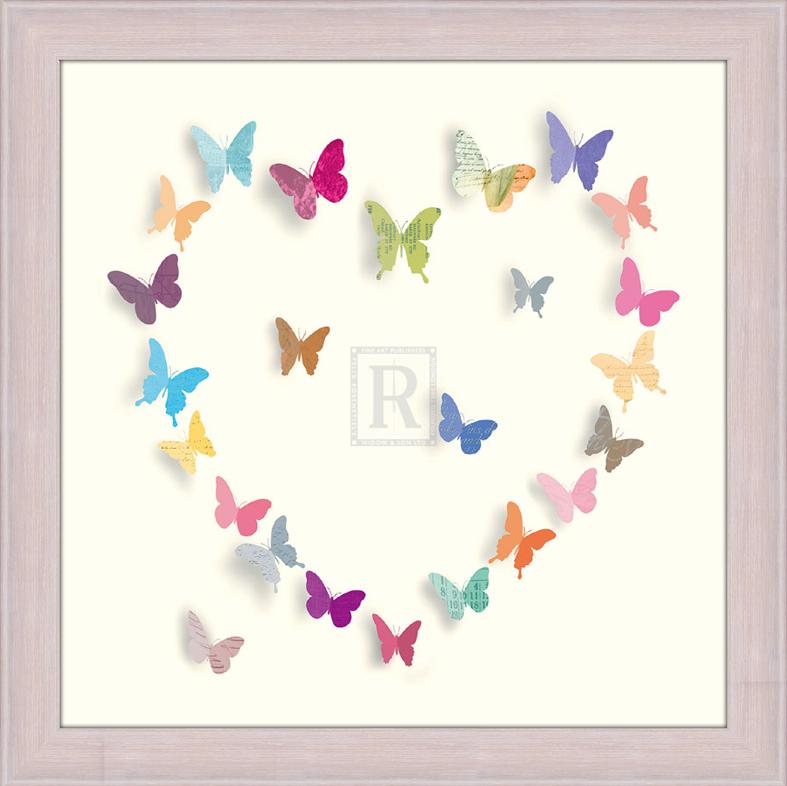 Танец бабочек. 30см х 30см30х30 R4202-285516Постер, в глянцевой ламинации, и пластиковой раме.