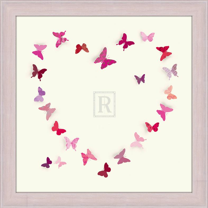Танец розовых бабочек. 30см х 30см30х30 R4203-285516Постер, в глянцевой ламинации, и пластиковой раме.
