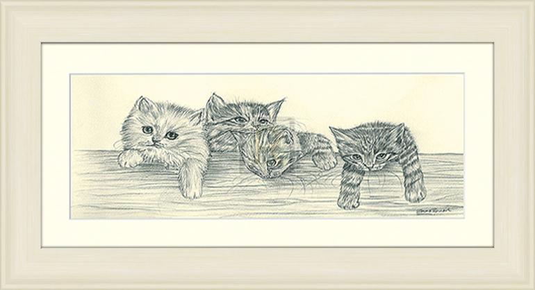 Карандашные котята - 1 30см х 15см30х15 R830-285585Постер, в глянцевой ламинации, и пластиковой раме.