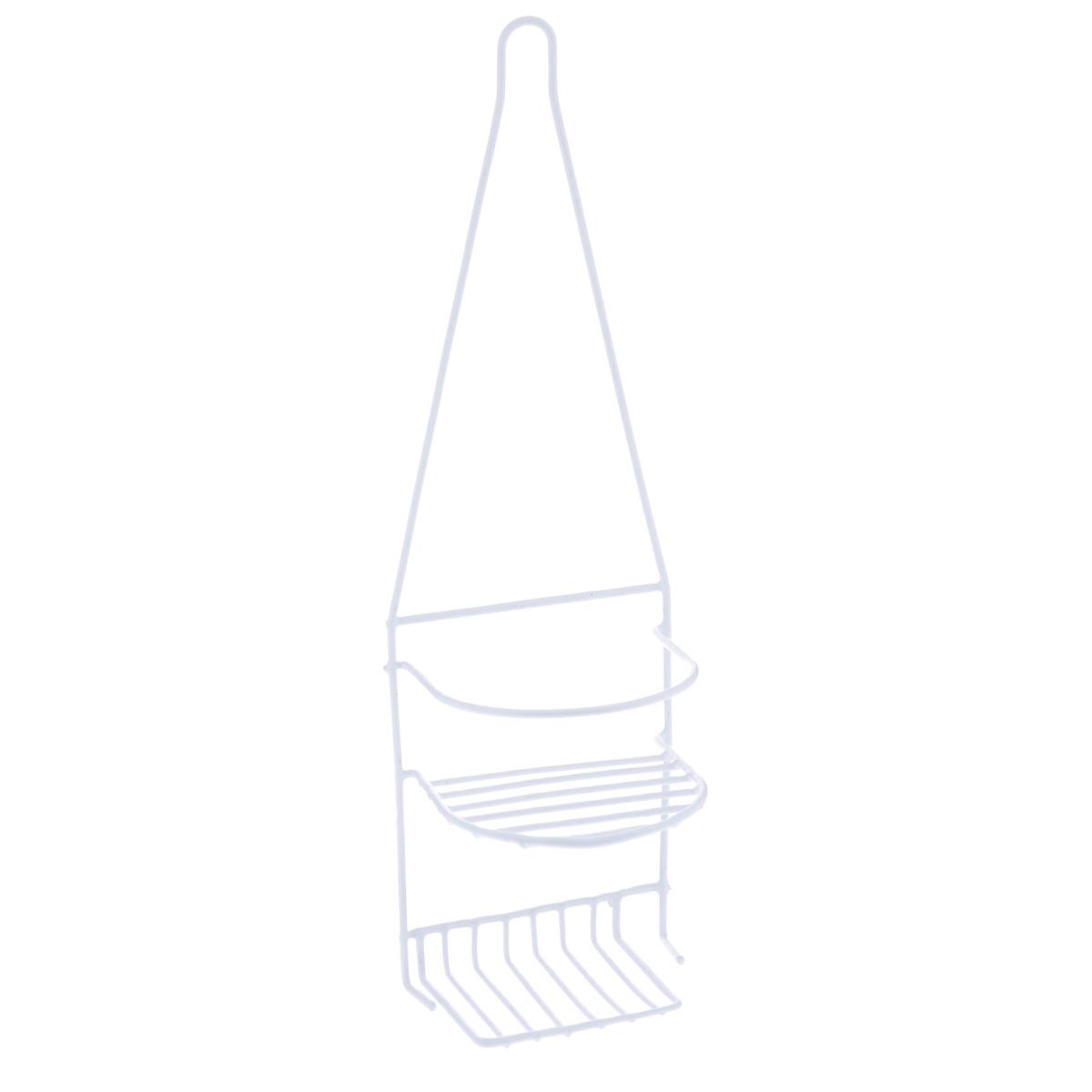 Полка Доляна, 2-х ярусная, цвет: белый, высота 44 см. 852958852958Полка Доляна выполнена из высококачественного металла и предназначена для хранения вещей в ванной комнате. Полка состоит из 2-х ярусов. Она пригодится для хранения различных предметов, которые всегда будут под рукой. Благодаря компактным размерам полка впишется в интерьер вашего дома и позволит вам удобно и практично хранить предметы домашнего обихода. Удобная и практичная металлическая полочка станет незаменимым аксессуаром в вашем хозяйстве. Высота полки: 44 см. Расстояние между ярусами: 9,5 см. Размер верхнего яруса: 12,5 см х 12,5 см. Размер нижнего яруса: 12,5 см х 8,5 см.