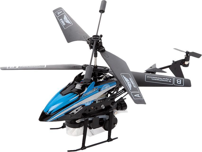 От винта! Вертолет на инфракрасном управлении Fly-02380238-FlyЭто вертолет с 3-канальной системой управления на инфракрасных лучах, которая может пускать мыльные пузыри. Он предназначен для запуска внутри помещения. Благодаря встроенному гироскопу модель прекрасно держит равновесие в полете. Игрушка может летать во всех направлениях: вперед, назад, вправо, влево и вращаться на 360 градусов.