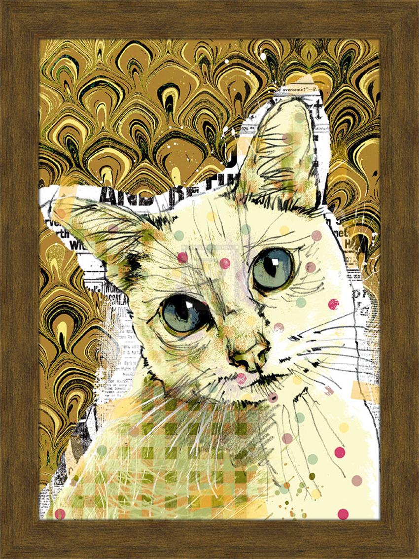 Арт-постер в раме Портрет кошки с зелеными глазами, 29 х 39 см30х40 R1372-314120Арт-постер - современное и актуальное направление в дизайне любых помещений. На арт-постере Портрет кошки с зелеными глазами изображена кошка. Изделие выполнено из дерева в глянцевой ламинации и оформлено пластиковой рамой. С задней стороны имеется две петельки для подвешивания к стене. Арт-постер Портрет кошки с зелеными глазами прекрасно подойдет для оформления дома, офиса или ресторана. Размер арт-постера (с рамой): 35 см х 46 см. Размер арт-постера (без рамы): 29 см х 39 см.
